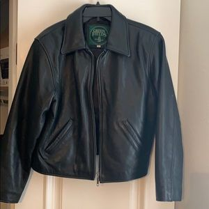 Green Fields Shafmaster leather jacket size M